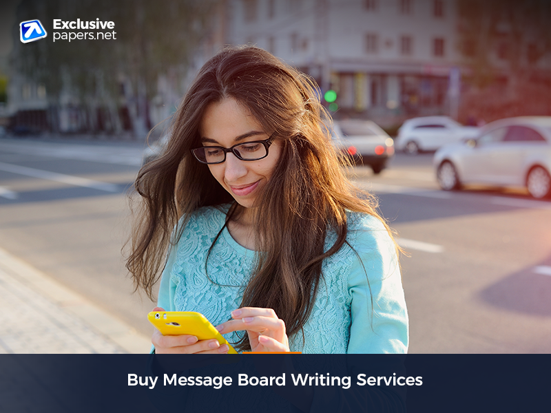 Buy Message Board Writing Services
