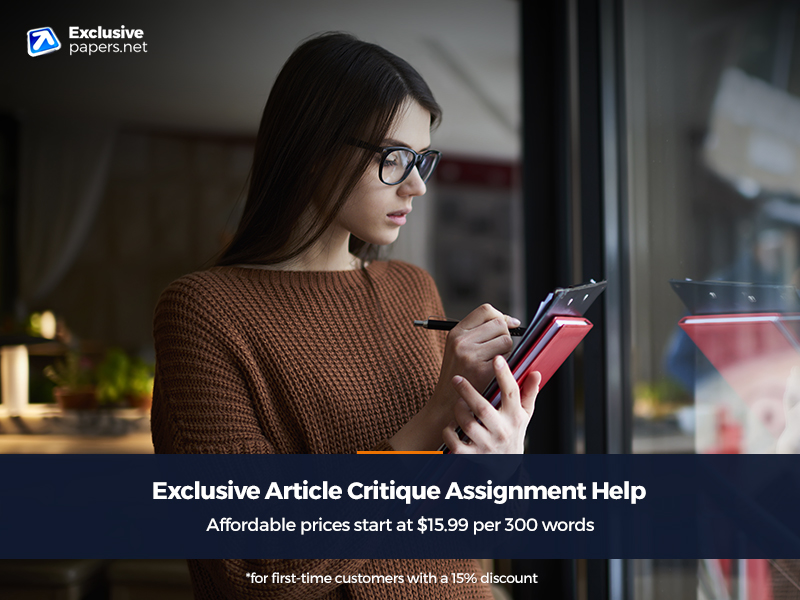 Exclusive Article Critique Assignment Help with Writing