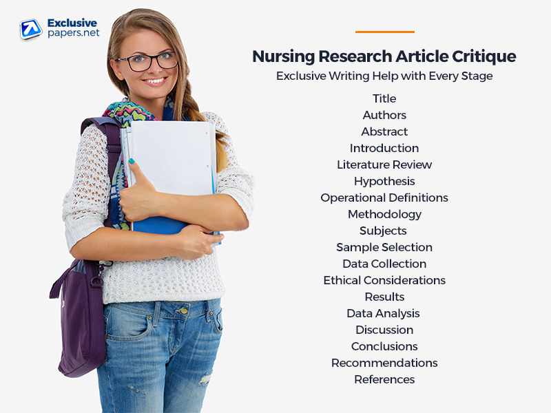 Buy Nursing Research Article Critique Services at ExclusivePapers